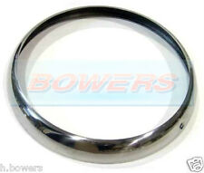 "CHROME TRIM RIM RING BEZEL CLASSIC CAR 7"" SEALED BEAM HEADLIGHT LAMP MINI WIPAC"