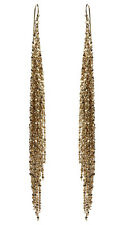 NWT Amrita Singh Real Housewives Glamour Fringe Gold Tone Earrings ERC 1594