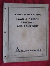 1966 AC ALLIS CHALMERS LAWN & GARDEN TRACTORS & ATTACHMENTS PARTS CATALOG MANUAL