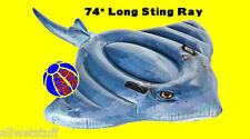 Sting Ray Inflatable Ride On Pool Beach Float Intex Swim Fun raft blow dolphin