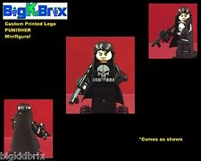 PUNISHER Custom Printed Lego Marvel Minifigure Comes with Trench Coat & Guns!
