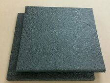 "2 Sheets - 18"" x 18"" x 1"" BLACK POLYETHYLENE PLANK FOAM 1.7pcf PE,  BEST PRICES!"