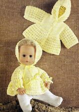 """KNITTING PATTERN BABY DOLLS CLOTHES 14"""" TINY TEARS"""