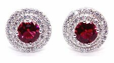 Plata esterlina Ruby & Arito diamante de 3.12ct (925)