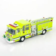 New 1/64 1997 Pierce Quantum Pumper USA Diecast Fire Truck Model Yellow Color NY