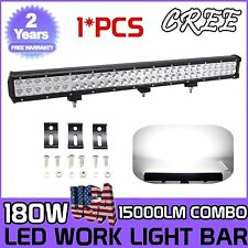 28inch 180W CREE LED WORK LIGHT BAR FLOOD SPOT Combo OFFROAD TRUCK LAMP JEEP 30""