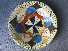 Vintage Puigdemont earthenware shallow bowl / wall plaque Spain 25 cm