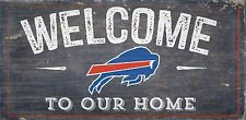 """Buffalo Bills Welcome to our Home Wood Sign - 12"""" x 6""""  Decoration Gift"""