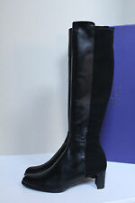 sz 10 M Stuart Weitzman Half and Half Over the Knee Black Leather Boot Shoes