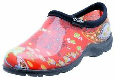 SLOGGERS 5104RD09 SIZE 9 WOMENS GARDEN SHOE PAISLEY RED WATERPROOF USA 4272589
