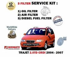 FOR HYUNDAI TRAJET 2.0 CRDI 2004-2007 NEW OIL AIR + DIESEL FUEL FILTER KIT