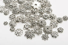 Whole Mixed 150pcs Tibetan Silver Flower Bead Caps Wholesale Jewelry Making DIY