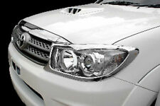 CHROME FRONT HEADLIGHT LAMP COVER TRIM ABS TOYOTA FORTUNER SW4 KUN60 2009 10 11