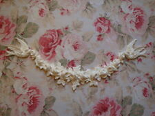LARGE FRENCH ROSES GARLAND-BIRDS Furniture Applique Architectural Pediment
