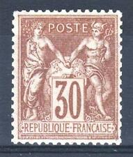 """FRANCE STAMP TIMBRE N° 80 a """" TYPE SAGE 30c BRUN 1881 """" NEUF xx TTB  P411"""