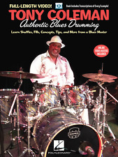 """TONY COLEMAN-AUTHENTIC BLUES DRUMMING"" INSTRUCTION MUSIC BOOK/ONLINE VIDEO-NEW!"