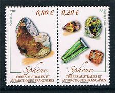 French Antarctic/TAAF 2016 Minerals 2v MNH