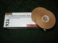 "LOT OF 2 ROLLS SCOTCH 3M 924 ATG ADHESIVE TRANSFER TAPE 1/2"" WIDE BY 60 YDS LONG"