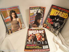 Four Issues of  Wizard Movie or TV Preview Magazine 2005-2008