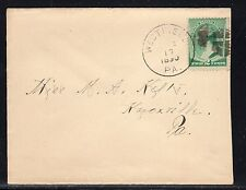 US #213 Westfield PA Tioga Co. to Knoxville PA 1890 a829