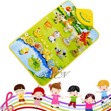 Kids Baby Farm Animal Musical Music Toys Touch Play Singing Gym Carpet Mat Toy