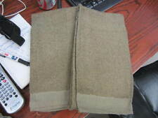 Lot of 2 US MILITARY Brown Bath Towel 100% Cotton Terry Towel 20 x 40