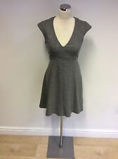 FRENCH CONNECTION GREY WOOL BLEND CAP SLEEVE DRESS SIZE 8