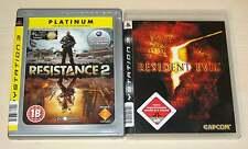 2 PLAYSTATION 3 PS3 SPIELE SAMMLUNG RESIDENT EVIL 5 & RESISTANCE 2 EGO SHOOTER