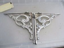 Old Iron Shelf Brackets Cistern Holder Shelve Gilt Leaf Vine Fish Bird Silver