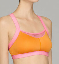 Josie 847170 Amp'd Sports Bra Orange And Flamingo Size 32B/C