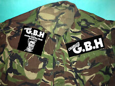 G.B.H. Leather Bristles Studs Acne Punk City Baby Camouflage Army Shirt Jacket