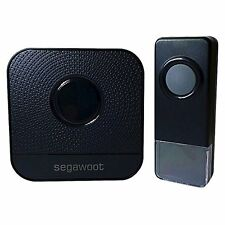 Doorbell, Segawoot Waterproof Wireless DoorBell Plug-in Push Button with LED New