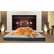 Large Orthopedic Dog Bed Foam Comfortable Support Cover Machine Washable Blue