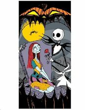Disney Original Nightmare Before Christmas towel beach 100% cotton Jack Sally