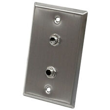 "Seismic Audio - Stainless Steel Wall Plate - Dual 1/4"" TRS Stereo Jacks"