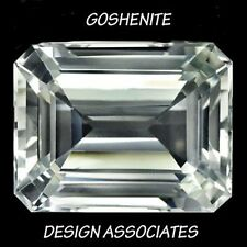GOSHENITE 5x3  MM EMERALD CUT ALL NATURAL RARE GEMSTONE AAA 2 PC SET