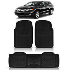 3PC HEAVY DUTY FRONT REAR ACK RUBBER FLOOR MATS SET for ACURA MDX RDX