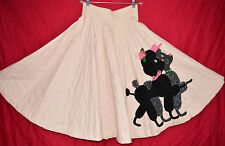 REAL 50s Poodle Skirt Novelty Circle Pink Quilted Period Original VLV