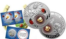 2012 Niue Large Proof Color Silver $2 Good Luck Charm Ladybird Bug-Nice Folder