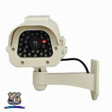 Dummy Fake Outdoor CCD Camera - Solar Power Flash LED & Ni-MH Batteries - White