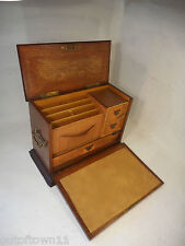 Antique Desktop Tiger Oak Stationery Cabinet ref 2879