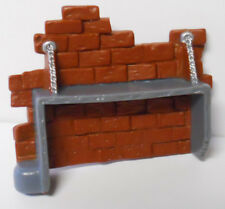 2004 Bandai Teen Titans Replacement Parts-Slade Command Center Brick Wall Shelf