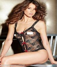 body nero in pizzo teddy cupples fantasia floreale black intimo donna  sexy shop
