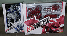 Bandai NXEdge Style MS Unit NX-0018 Hi-V Gundam & NX-0019 Nightingale Set of 2