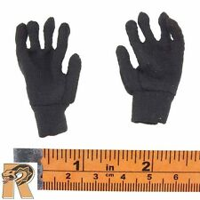 Navy Flight Deck Crew - Black Cloth Gloves - 1/6 Scale - Very Hot Action Figures