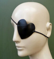 Heart Shaped BLACK Leather Eye Patch Eyepatch Halloween Costume Mask Pirate
