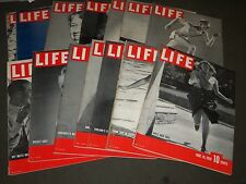 1939 MAY 8-AUGUST 21 LIFE MAGAZINE LOT OF 15 - GREAT COVERS & COLOR ADS - O 2195