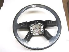 Silverado Sierra Suburban Tahoe Black Leather Steering Wheel w Controls switches