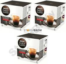 3x NESCAFE DOLCE GUSTO ESPRESSO INTENSO DECAF DECAFFEINATED COFFEE PODS BOXES
