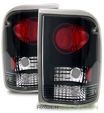 For 93-97 Ford Ranger Black Altezza Tail Lights Brake Lamps